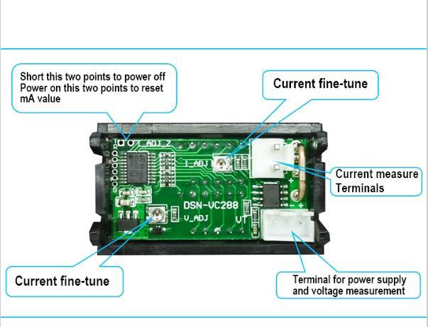 Мини цифровой вольтметр амперметр DC 100 в 10A Панель Ампер Вольт Напряжение измеритель тока тестер 0,56 дюйма синий красный двойной светодиодный дисплей