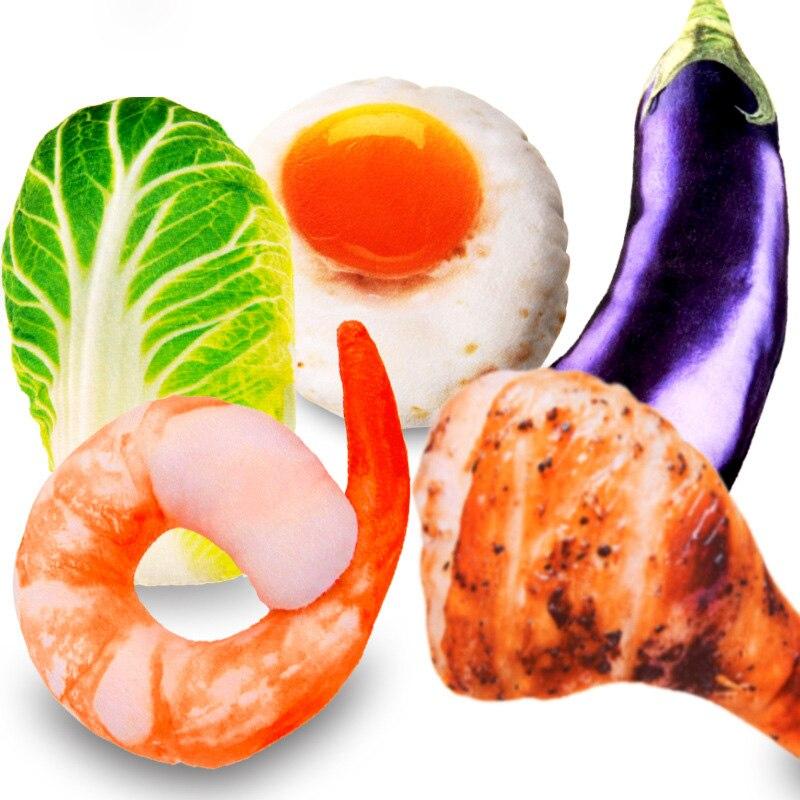 3D Simulation Vegetables/Fruits BB Voice Plush Toys 20 Kinds Soft Cat/Dog Pets Plush Toy
