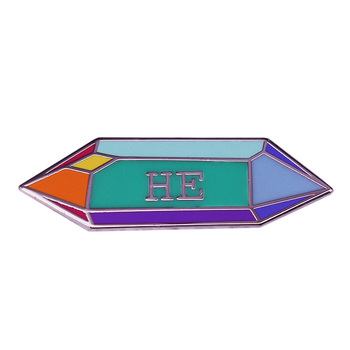 HE Gender Pronoun Enamel Pin My boyfriend doesn't seem to be attracted to me.Could he be gay? image