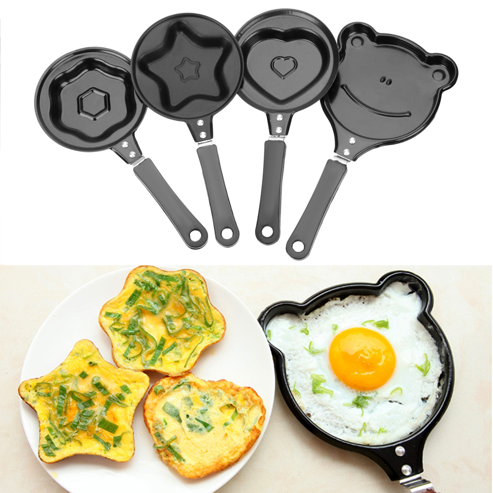 Mini Kitchen Tools Non-Stick Frying Pan Pancake Maker Egg Mold Pan Flip Omelette Mold Breakfast Egg Frying Pot Cooking Tool