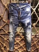 NEW Men Jeans Ripped for Men Skinny DSQ Jeans Pants Men Jeans Button Outwear Man Pants