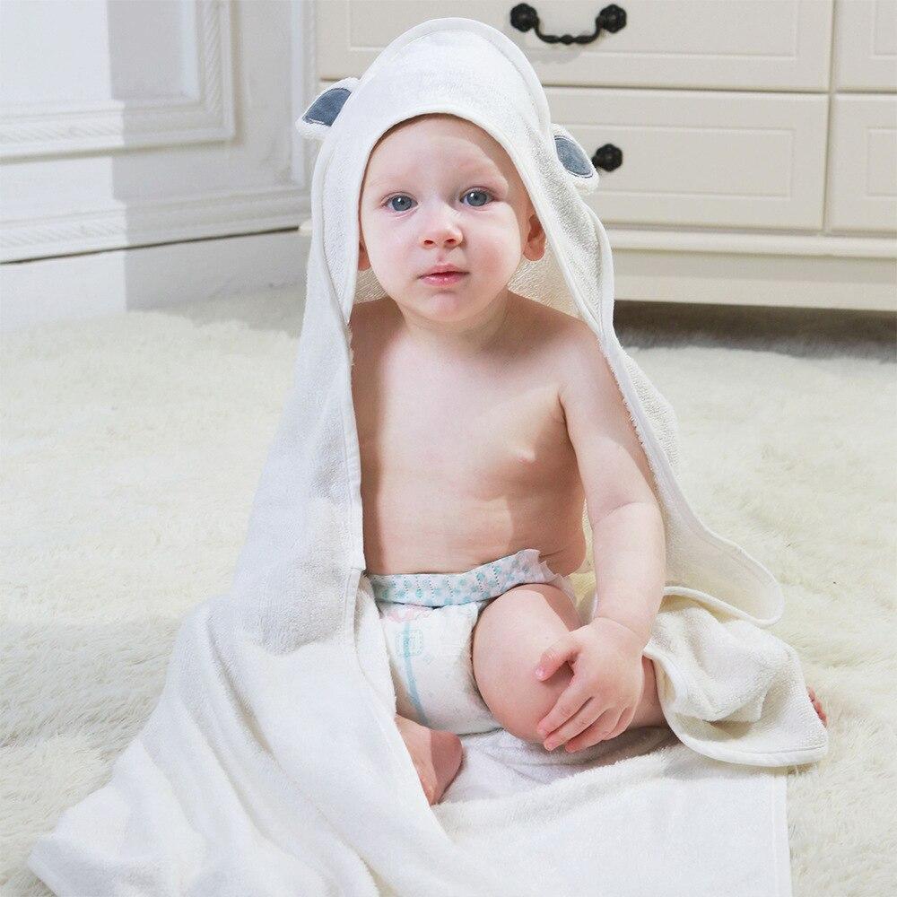 100% Organic Bamboo Towels Bamboo Fiber Bath Towel Bamboo For Baby Blankets Newborn Baby Swaddle Wrap Hooded Bath Towels Kids