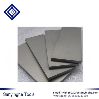 YG8 Carbide tungsten steel turning tool tungsten steel bars tungsten steel flat bar thickness 8mm length 330mm
