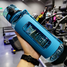 Straw Insulated Shaker Infuser Flat Water Bottle Gym Sports