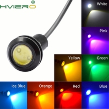 2x White Red Blue yellow 18mm 9w DC 12V Led Eagle Eye Light Daytime Running Drl Backup Car Motor Parking Signal Lamps Waterproof white red 23mm eagle eye light 9w dc 12v led daytime running drl backup car aoto motor parking signal lamps waterproof fog light