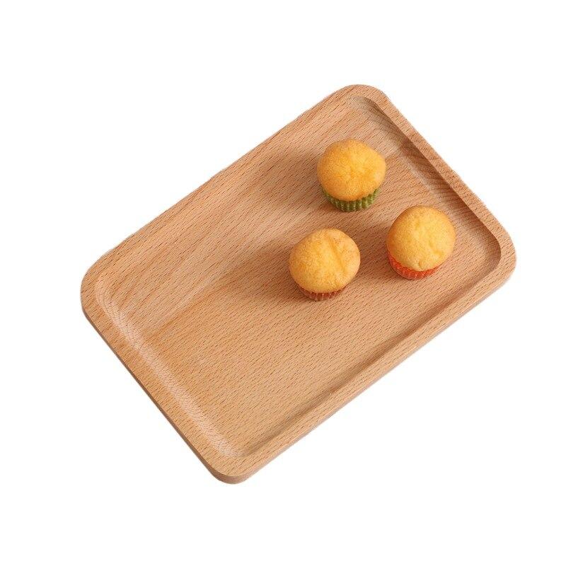1 шт. Деревянные Подносы сервировочный поднос посуда тарелка деревянные закуски десерт хранение еды Чай Кофе поднос для завтрака отеля дома сервировочный поднос-5