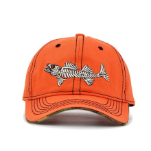 Fish Bone Men's Baseball Cap Women's Snapback Fishing Embroidery Dad Ha