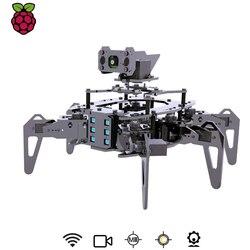 Raspclaws hexápod aranha robô kit com opencv alvo rastreamento de transmissão vídeo rastejando robô para raspberry pi 3 modelo b +/b