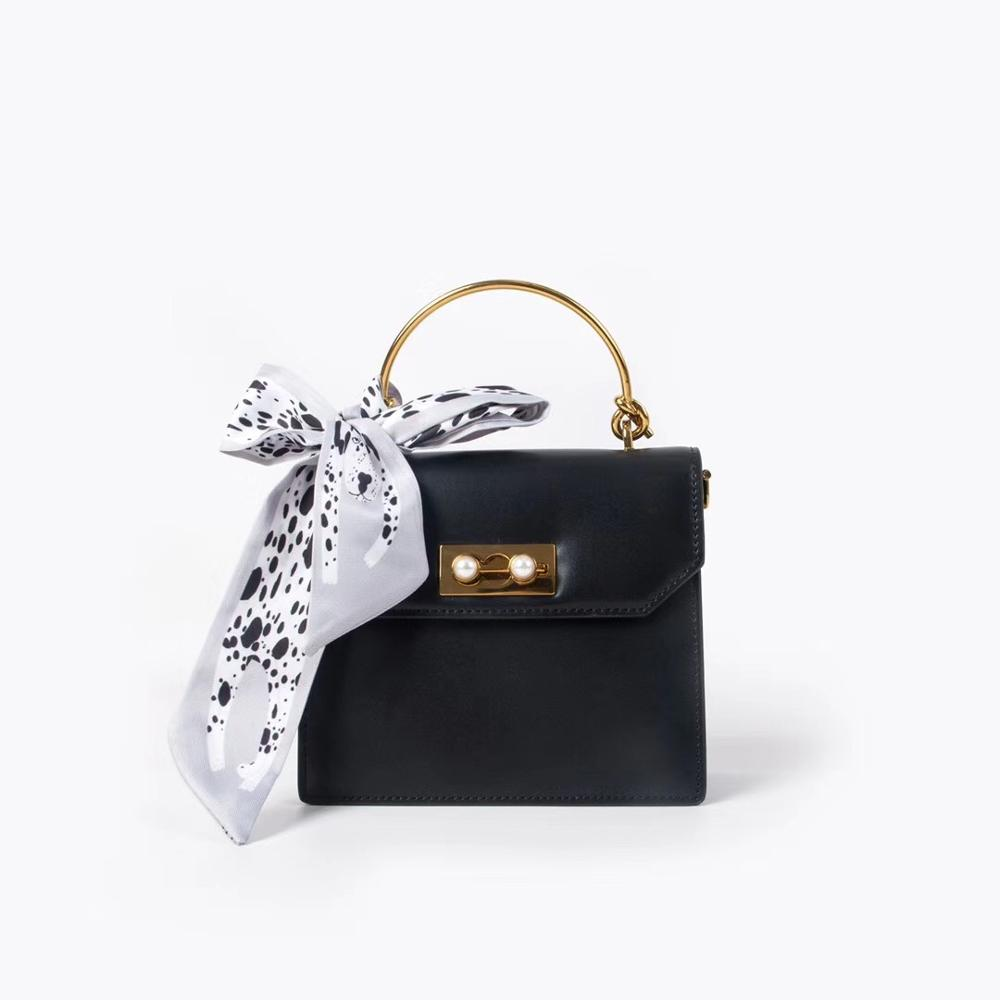 Kafunila genuine leather bags women real leather 2019 famous brand luxury handbags women bags designer crossbody bag lady 39 s bag in Top Handle Bags from Luggage amp Bags