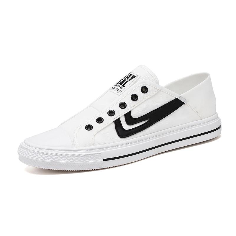 Mens Canvas Shoes Slip On Laceless