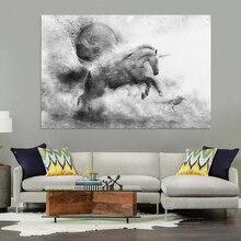 Home Decor Frameless Unicorns Majestic Horses Canvas Poster Art Painting Wall Graffiti Print Decoration
