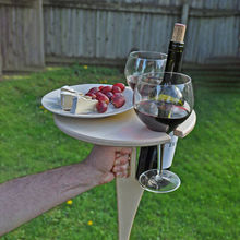 Outdoor Wine Camping Table With Foldable Round Desktop Mini Wooden Picnic Table Easy To Carry Wine Rack Garden Furniture Sets