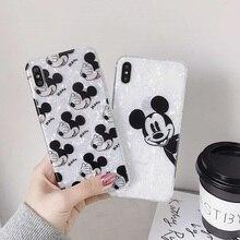 купить Minnie Mickey Donald Duck Winnie Pooh elephant Soft TPU Case for coque iPhone X 7 8 Plus 6s 6p XR XS MAX Conch Shell Cover дешево