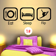 BOYS GIRLS PVC WALL STICKER QUOTE EAT SLEEP PLAY ANY SPORT HOBBY VINYL DECALS DECORATION
