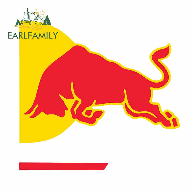 EARLFAMILY 13cm X 12cm For Jump-Time Red Of Bull Motorcycle Car Stickers Vinyl Waterproof Occlusion Scratch Camper JDM Decal