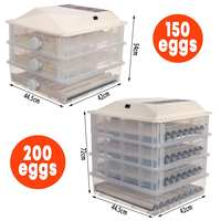 56/98/150/196 Eggs Automatic Egg Incubator LCD Digital Farm Hatchery Machine for Farm Chicken Quail Brooder Egg Incubator