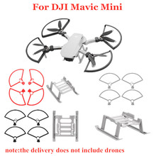 1Set Propeller Blade Protector Ring Beschermhoes Ondersteuning Stand Landingsgestel Extension Been Voor Dji Mavic Mini Drone Accessoire