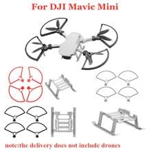 Protetor de anel para hélice, acessório de proteção para drone dji mavic mini, suporte de pouso, engrenagem de extensão, 1 conjunto