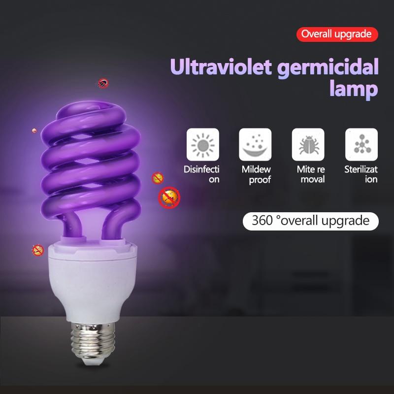 UV BlackLight Lamp Bulb Energy E27 Quartz Glass Lamp Tube Traps Insects Lamp Saving LED Ultraviolet Stage Lamp Bulb