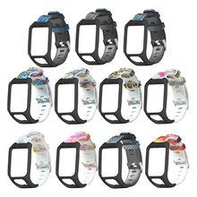 Printed Replacement Watchband Wrist Strap Bracelet for TomTom 2 3 Series Runner 2 3 Spark Series Golfer 2 Adventurer GPS Watch