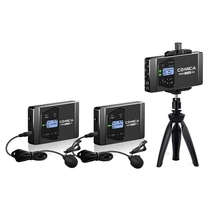 Promotion--Comica Cvm-Ws60 Mini Wireless Microphone System (Two Transmitters One Receiver) for Smartphones and Cameras, Uhf 12 C
