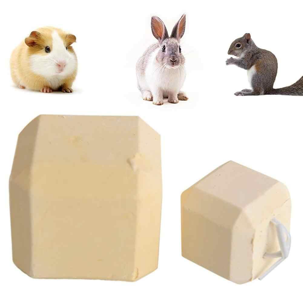 חיות מחמד אוגר עכברוש ארנב טחינת אבן מינרלים ללעוס שאינו רעיל סידן קוביית צעצוע עבור צ 'ינצ' ילה אוגר ארנב