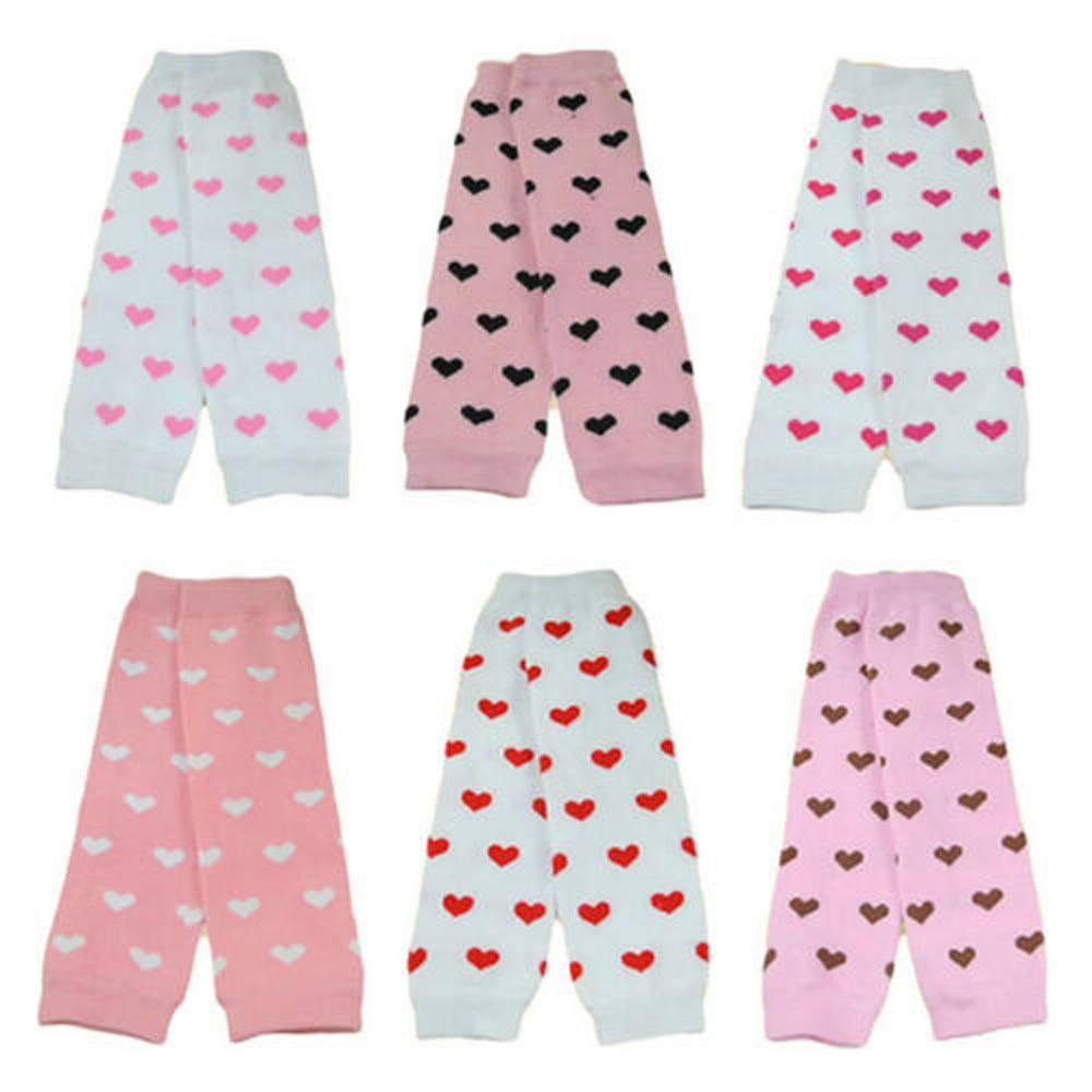 Fashion Baby Toddler Kid Girl Pink Hearts Socks Tights Arm Leg Warmers WATXW0017