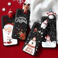 Custodia per bambole di buon natale per Xiaomi Mi Redmi Note 9 S 9 S 8 8T 9A A3 10 5 6 7 Pro Max Ultra Lite SE CC9 CC9e A1 A2 Capa