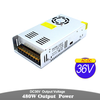Power Supply 12V 13.8V 18V 24V 28V 30V 36V 42V 48V 60V 480W Transformers 220V 110V AC DC SMPS For CCTV Lamp CNC Router Monitor