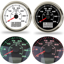 """אוניברסלי הימי רכב GPS מד מהירות 85mm 40 MPH /80 קמ""""ש דיגיטלי מד מהירות סירת 9 ~ 32 V עם 7 צבעים תאורה אחורית עמיד למים"""