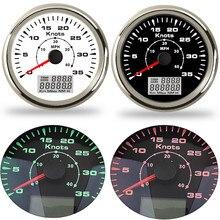 ユニバーサルマリン車の gps スピードメーター 85 ミリメートル 40 mph/80 mph デジタルスピードメーターボート 9 〜 32 v で 7 色バックライト防水