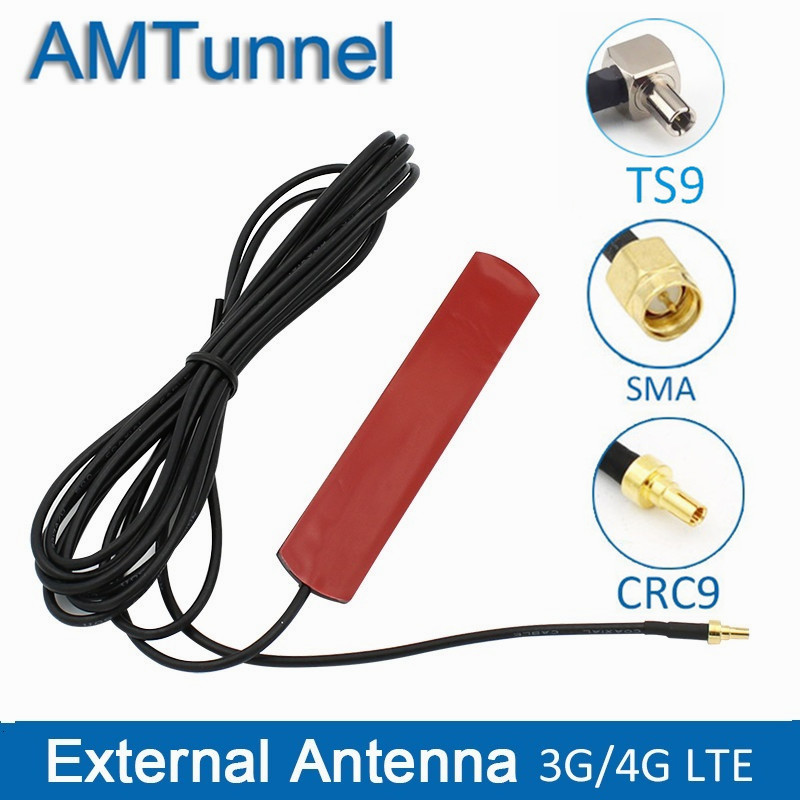 3G 4G Antenna 4G LTE Patch Antenna 4G Router Antenna With CRC9 Connector With 3m Cable TS9 SMA Male For Huawei Router USB Modem