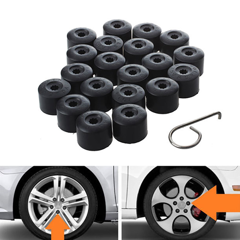 20*<font><b>Car</b></font> Tire Nut Cap for Volkswagen for Bora <font><b>Wheel</b></font> Screw <font><b>Cover</b></font> Decorative Plastic Buckle Clip Tire Nut Cap image