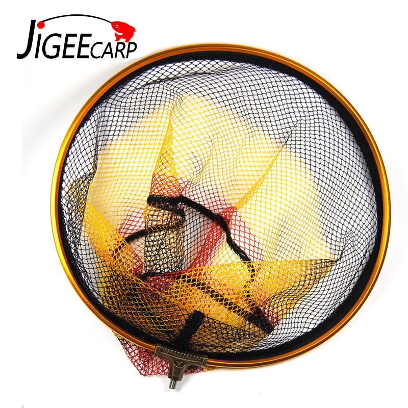 JIGEECARP 1PC Round Landing Net Head Spare with 8mm Male Thread Mesh 5 X 5mm Diameter 30cm 35cm for Option Bank Rock Carp