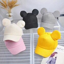 Kids Baby Hat With Ear Letter Summer Baby Girl Boy Sun Hat Baseball Caps Cotton Children Toddler Boys Girls Hat Casquette Enfant