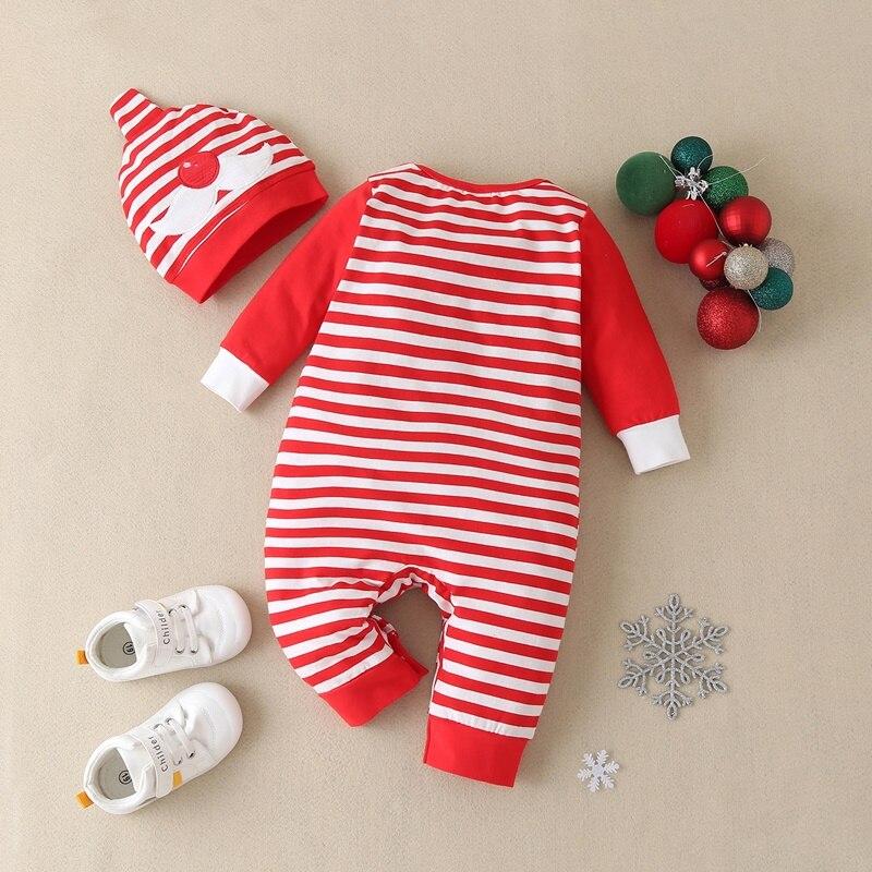 2 pcs set baby christmas clothes cartoon santa claus striped