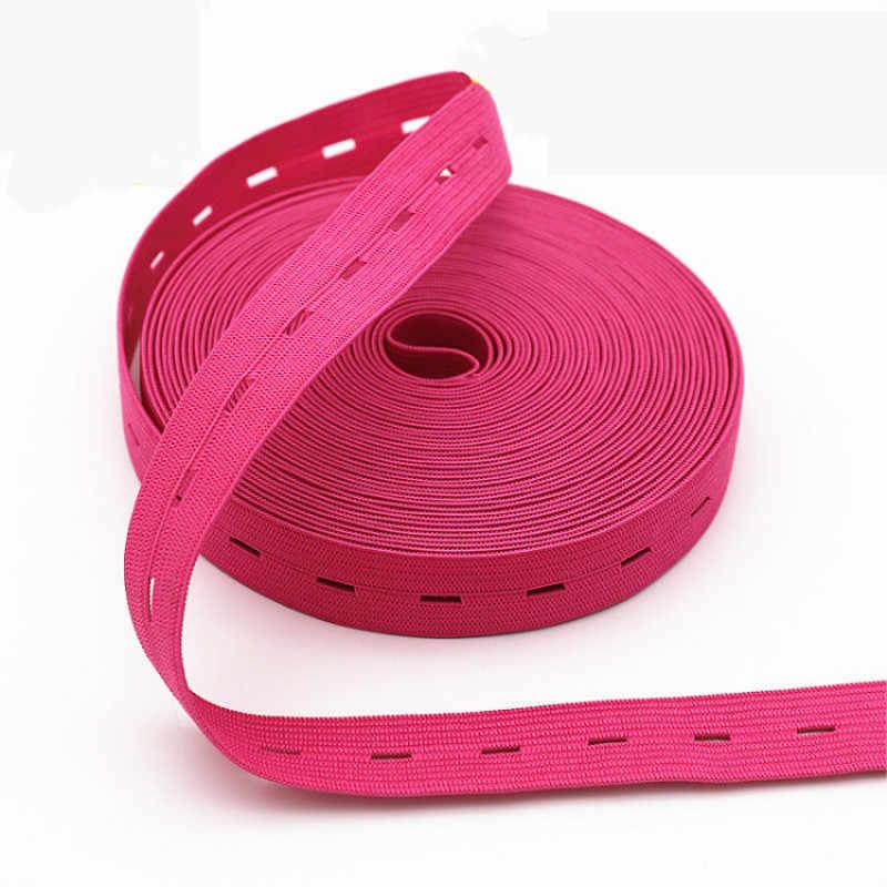 2 см цветная Регулируемая плоская эластичная лента с отверстиями для пуговиц эластичная лента для детских подгузников для беременных швейных аксессуаров 1 м