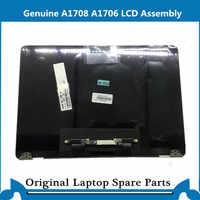 Echte Neue A1706 A1708 LCD Screen Display Montage für Macbook Retina 13 Volle LCD Panel Silber Raum Grau 2016 2017 jahr