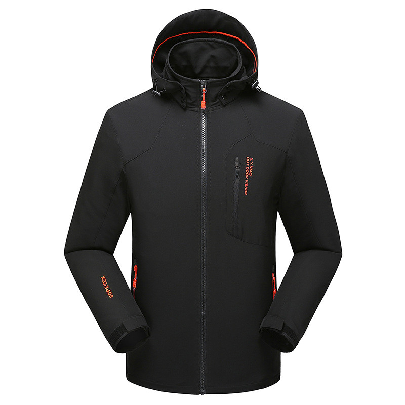 North Autumn Winter Jacket Men Windproof Rainproof Outdoor Sports Coats Large Size Breathable Face Hoodies Parka Clothing