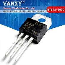 5pcs BTB12-600C TO220 BTB12-600 BTB12 12-600C Triacs 12 Amp 600 Volts PARA-220 original novo