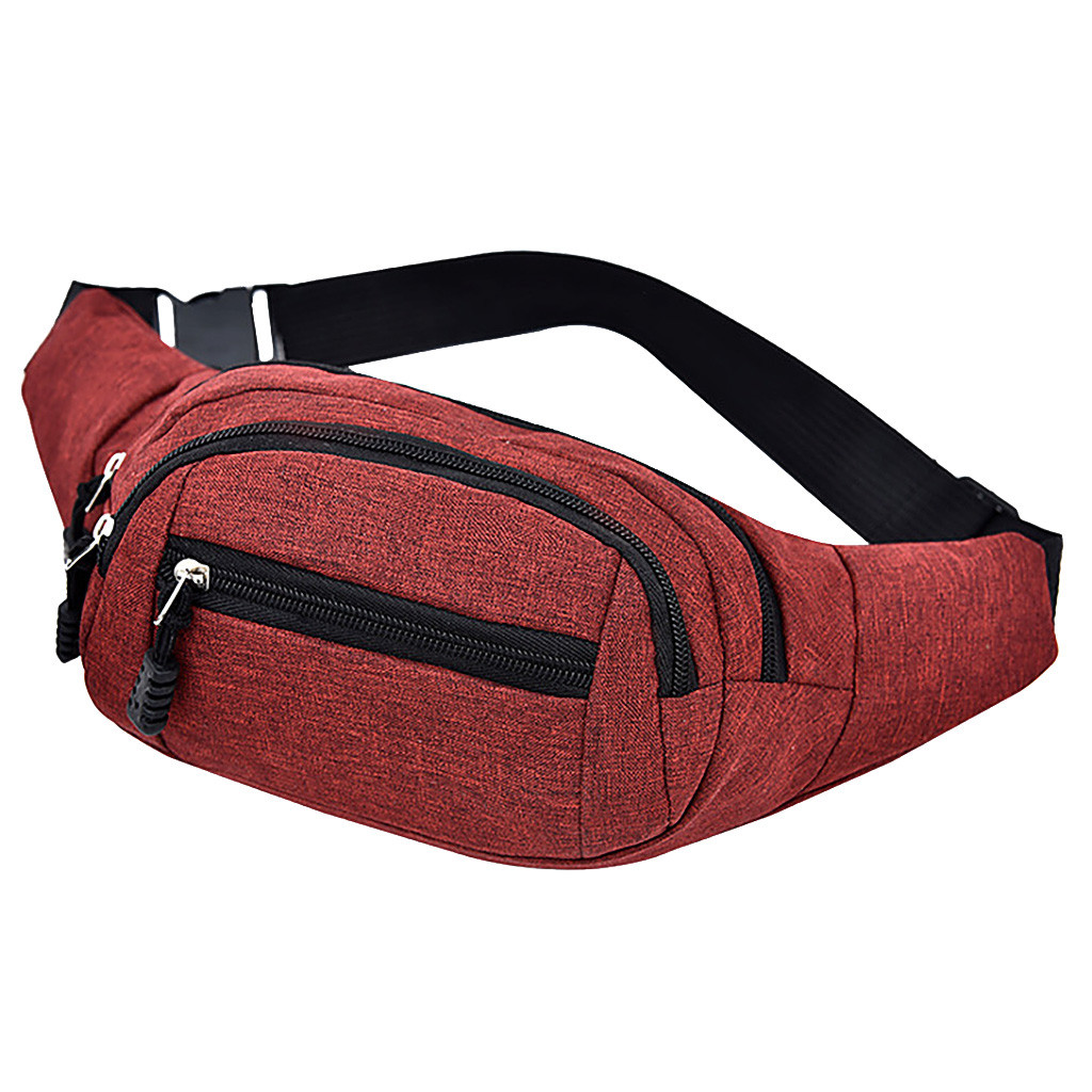 Waist Bag Men's And Women's Simple Leisure Fashion Oxford Sport Fitness Waist Packs Travel Hip Bum Bag сумка на пояс женская