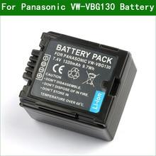 Lanfulang VW VBG130 VBG130 dijital kamera pil için Panasonic VW VBG070 DMW BLA13E DMW BLA13PP HDC SD1 SD3 SD7 SD8 SD10