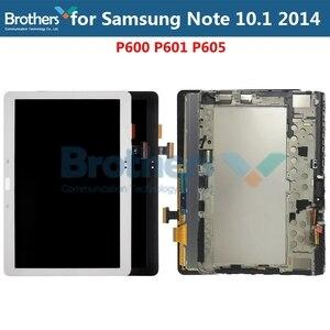 Oryginalny ekran lcd do Samsung Galaxy Note 10.1 SM-P600 P601 P605 panel wyświetlacza lcd montaż digitizera ekranu dotykowego w celu uzyskania