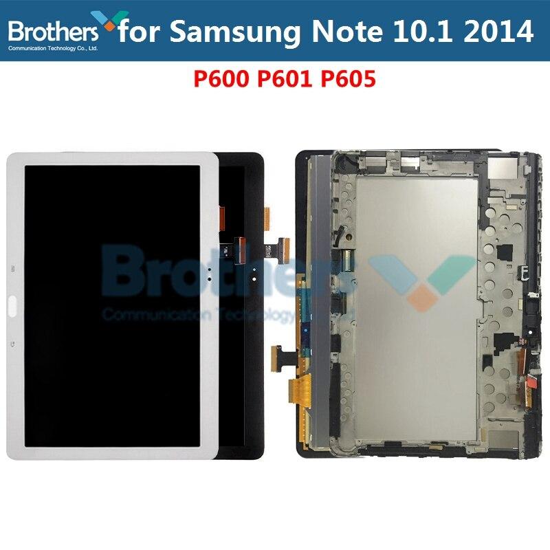 Pantalla LCD Original para Samsung Galaxy Note 10,1 SM-P600 P601 P605 Panel de la pantalla LCD MONTAJE DE digitalizador con pantalla táctil de reemplazo