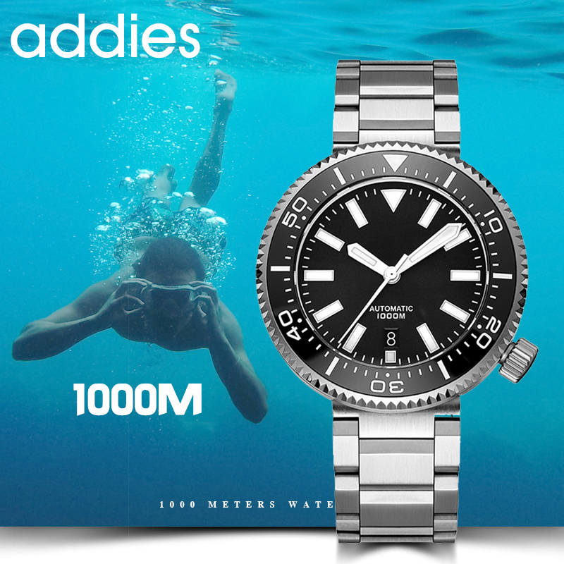 2019 New Fashion Watch Stainless Steel Diver Watch 1000M Water Resistant sapphire glass ceramic bezel blue luminous title=