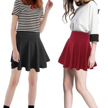 2020 summer Girl's Pleated Skirt Yong Girl Uniform Skirt Solid High Waist Mini Cute Pleated Tennis Skirts CHEERLEADING SKIRT abstract striped pleated skirt