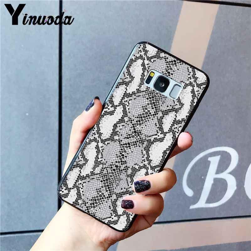Yinuoda נחש עור DIY הדפסת ציור מקרה טלפון עבור Samsung Galaxy S10 בתוספת S10E S6 S7 S8 S9 S9Plus S5 m10