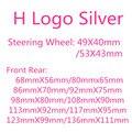 1 шт. рулевого колеса автомобиля Стикеры H с логотипом ABS Хромовая передний капот Гриль задний багажник автомобиля эмблемы значка Стикеры дл...