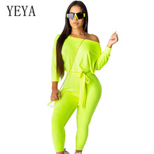 YEYA High Quality Women Casual Playsuits with Belt Elegant Long Sleeve Lady Jumpsuits Rompers Newest Black Green Orange Trousers halloween black orange feather pettiskirt with sparkle spider web print orange long sleeve top with orange lacing mamw305