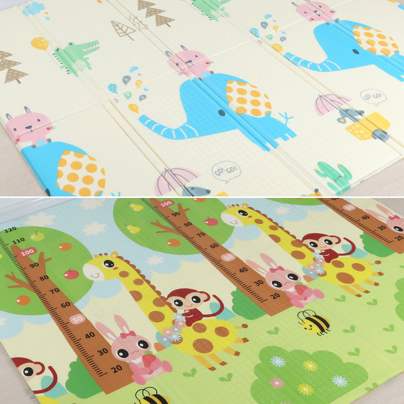 200 180cm Foldable Cartoon Baby Play Mat Xpe Puzzle Children s Mat Baby Climbing Pad Kids 200*180cm  Foldable Cartoon Baby Play Mat Xpe Puzzle Children's Mat Baby Climbing Pad Kids Rug Baby Games Mats